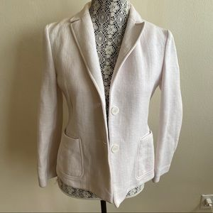 Judith & Charles Cotton Blend Thick Cream Blazer